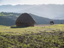Moroccan Rural Landscape on sunny day Royalty Free Stock Images