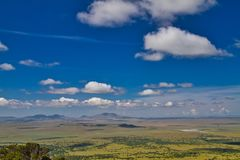 Northern New Mexico from Volcano. From the top of Capulin Volcano National Monument, the New Mexico landscape appears to be endless royalty free stock images