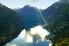 Northern Norwegian fjords. Royalty Free Stock Photography