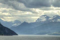 Northern Norwegian fjords. Stock Photos