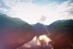 Northern Norwegian fjords. Royalty Free Stock Images