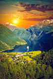 Northern Norwegian fjords. Scenic landscapes of the northern Norwegian fjords Royalty Free Stock Photo
