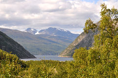 Northern Norwegian landscape Royalty Free Stock Images