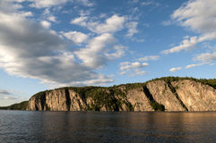 Northern Ontario Lake and Cliffside Stock Photography
