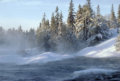 Northern ontario scenic. Taken near killarney ontario it was -25c at the time Royalty Free Stock Photography