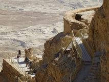 The northern palace in the fortress on Mount Masada. stock photography