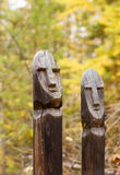 Northern peoples totems Stock Photo