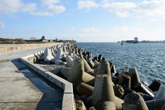 The Northern pier view Baltiysk Royalty Free Stock Photography