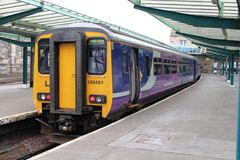 Northern rail class 156 diesel multiple unit train Stock Image