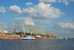 Northern river port in Moscow. Northern river port on the river Moscow in the city of Moscow in Russia Stock Photo