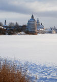 Northern Russian monastery in winter. Stock Images