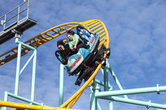 Northern`s California only spinning coaster, Santa Cruz, Califor Royalty Free Stock Photos