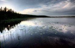 Northern Saskatchewan Lake Stock Image