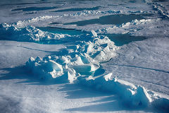 Northern sea ice background winter bright Stock Images
