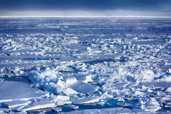 Northern sea ice background winter bright Stock Photos