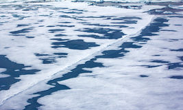 Northern sea ice background winter bright Royalty Free Stock Image