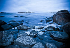 Northern shoreline. A northern shoreline on a cold spring morning in may Stock Images