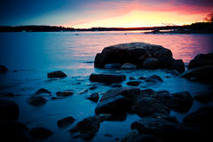 Northern shoreline. A northern shoreline on a cold spring morning in may Stock Photo