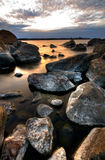 Northern shoreline. Northern swedish shoreline on a cold spring morning Stock Photo