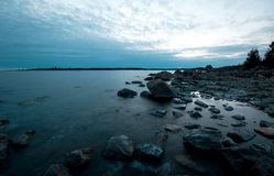 Northern shoreline. Northern swedish shoreline on a cold spring morning Royalty Free Stock Photography