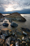 Northern shoreline. Northern swedish shoreline on a cold spring morning Stock Images