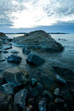 Northern shoreline. Northern swedish shoreline on a cold spring morning Stock Photography