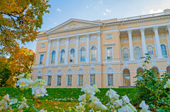 Northern side of Michaels palace, building of the State Russian museum of St Petersburg, Russia Royalty Free Stock Images