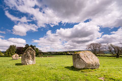 Northern side of stone circle Royalty Free Stock Photography