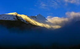 On the northern slope of the Mount Qomolangma Stock Images