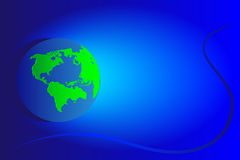 Northern and southern America. Background globe with continents northern and southern America in a vector blue Royalty Free Stock Image