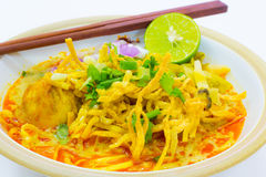 Northern style curried noodle soup Stock Photography