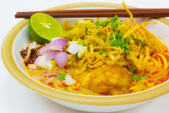 Northern style curried noodle soup Royalty Free Stock Images