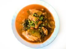 Northern Style Spicy Chicken Soup Stock Images