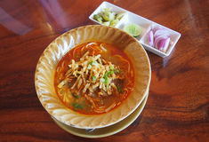 Northern style Thai Noodle Royalty Free Stock Photos