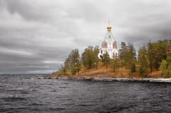 Northern temple. Temple on a Valaam island Royalty Free Stock Photos