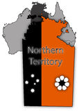 Northern Territory Map And Flag Stock Photography