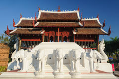 Northern Thai architecture in sunny day. Royalty Free Stock Photos