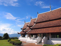 Northern Thai art church under blue sky Stock Image