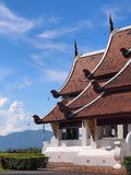 Northern Thai art church under blue sky Royalty Free Stock Images