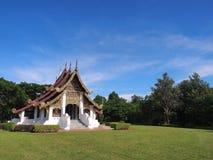 Northern Thai art church under blue sky Stock Photo