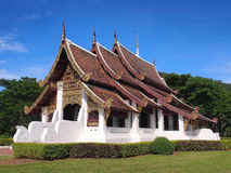 Northern Thai art church under blue sky Stock Images