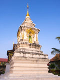 Northern Thai art pagoda under blue sky Stock Photo