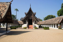 Northern Thai art temple. Church monastery Royalty Free Stock Photography