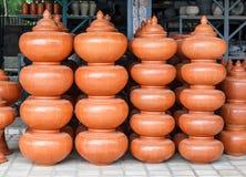 Northern Thai clay pottery Stock Photos