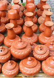 Northern Thai clay pottery Royalty Free Stock Photography