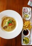 Northern thai dish, Khao Soi Gai Stock Images