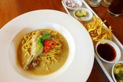 Thai dish cuisine food, Khao Soi Gai Stock Image
