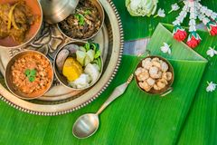 Northern Thai food. With banana leaf background Royalty Free Stock Photos