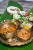 Northern Thai food. With banana leaf background Royalty Free Stock Image