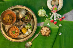 Northern Thai food. With banana leaf background Stock Photos